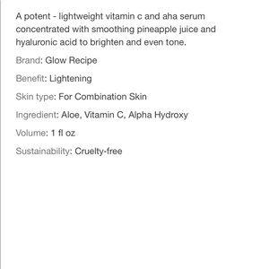 glow Makeup - GLOW pineapple-c brightening serum